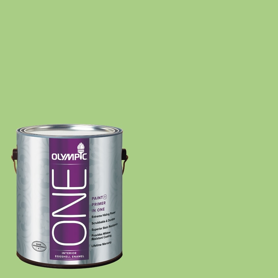 Olympic ONE Celery Sprig Eggshell Latex Interior Paint and Primer In One (Actual Net Contents: 116-fl oz)