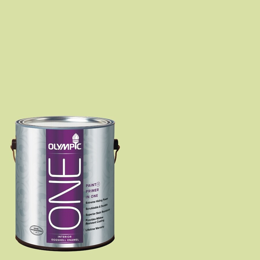 Olympic ONE Green Grapes Eggshell Latex Interior Paint and Primer In One (Actual Net Contents: 124-fl oz)