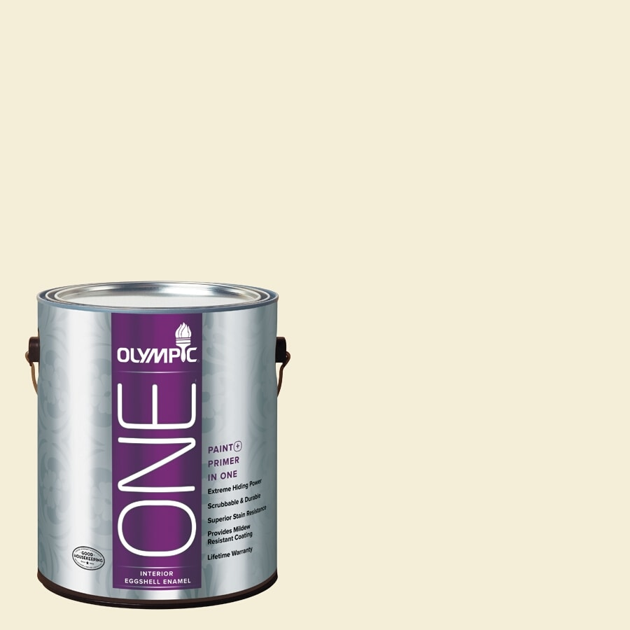 Olympic ONE Lotus Flower Eggshell Latex Interior Paint and Primer In One (Actual Net Contents: 124-fl oz)
