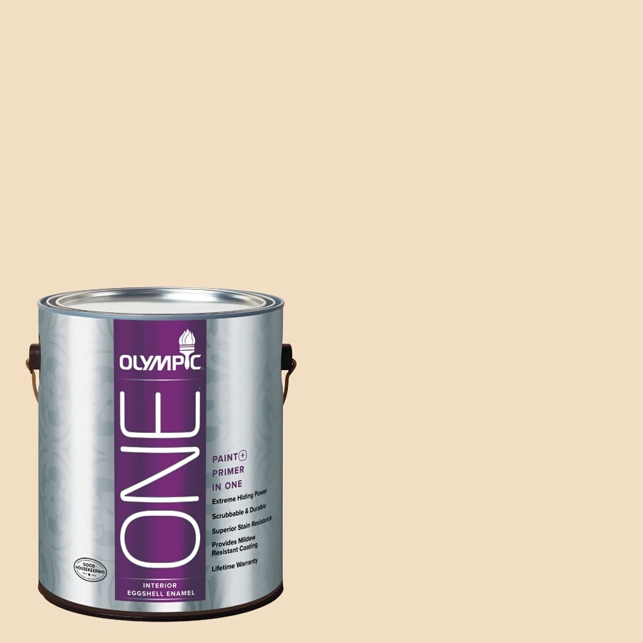 Olympic ONE HONEy Beige Eggshell Latex Interior Paint and Primer In One (Actual Net Contents: 124-fl oz)