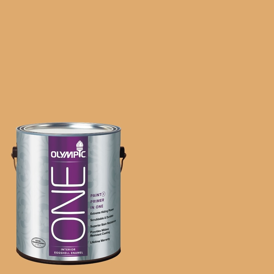 Olympic ONE Lion's Maine Eggshell Latex Interior Paint and Primer in One (Actual Net Contents: 116-fl oz)