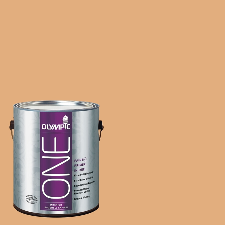 Olympic ONE Chocolate Turtle Eggshell Latex Interior Paint and Primer In One (Actual Net Contents: 116-fl oz)