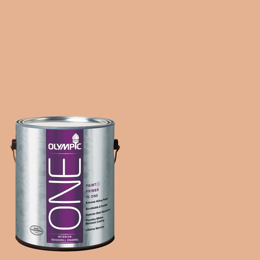 Olympic ONE Gentle Doe Eggshell Latex Interior Paint and Primer In One (Actual Net Contents: 124-fl oz)