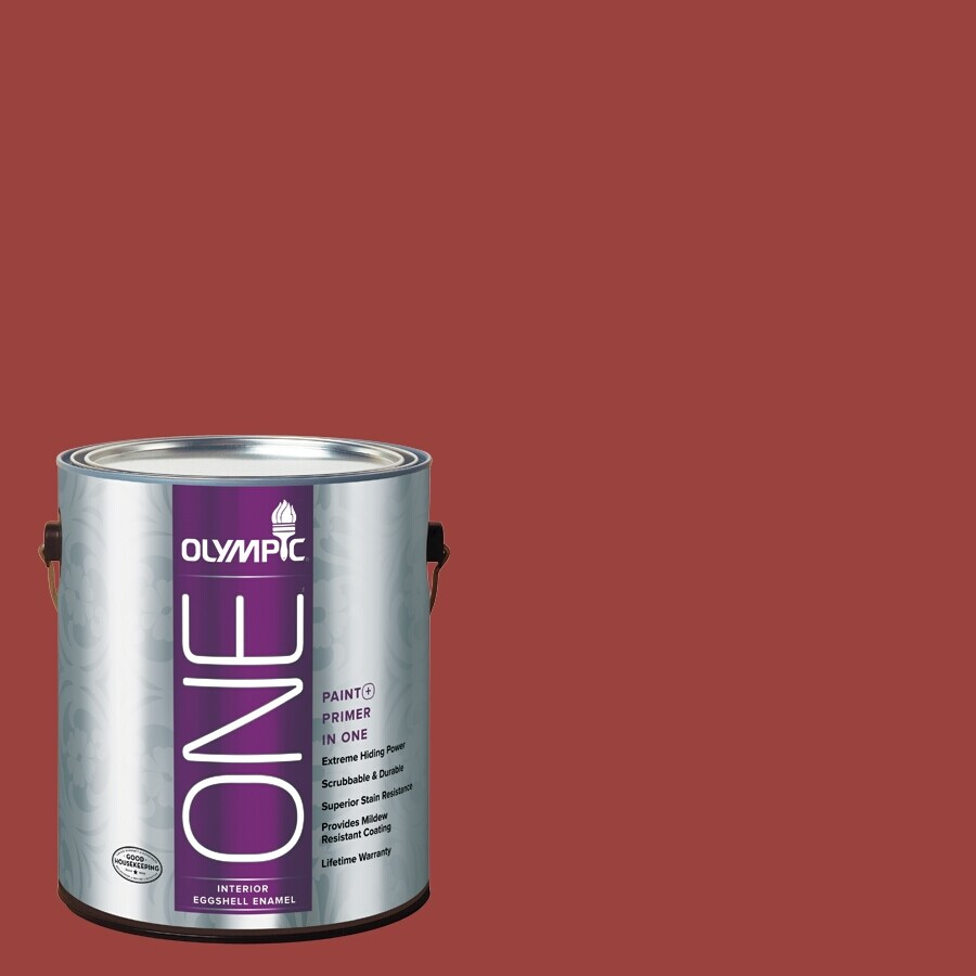Olympic ONE Burning Bush Eggshell Latex Interior Paint and Primer In One (Actual Net Contents: 114-fl oz)
