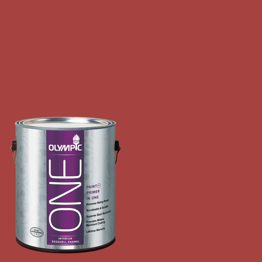 Olympic ONE Rum Runner Eggshell Latex Interior Paint and Primer In One (Actual Net Contents: 114-fl oz)