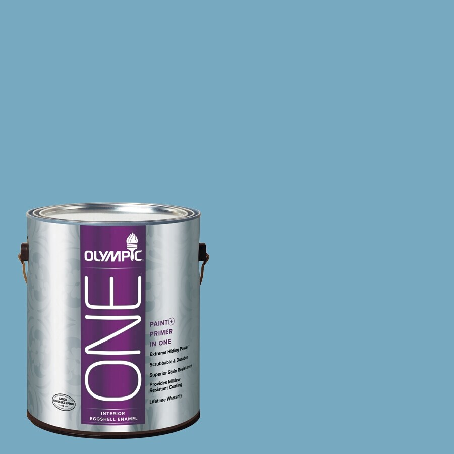 Olympic ONE Serene Sea Eggshell Latex Interior Paint and Primer In One (Actual Net Contents: 116-fl oz)