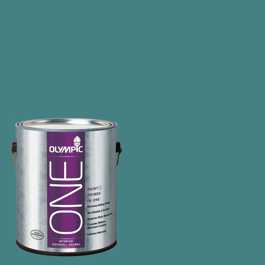 Olympic ONE Teal Zeal Eggshell Latex Interior Paint and Primer In One (Actual Net Contents: 114-fl oz)