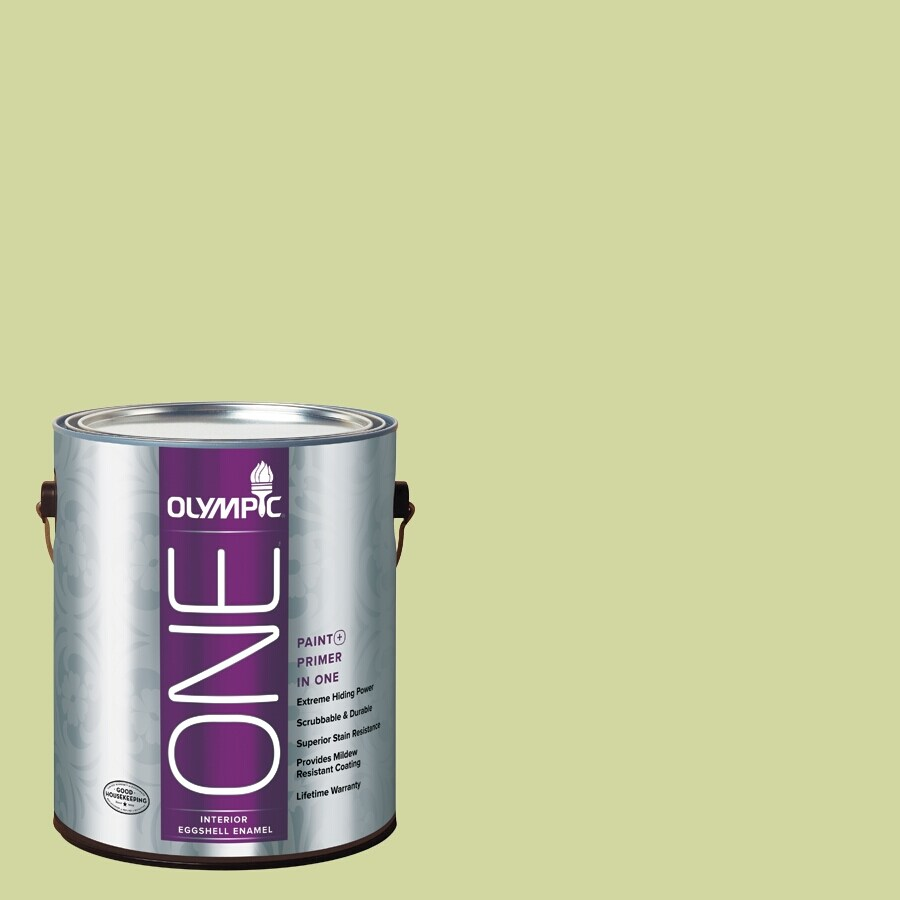 Olympic ONE Lettuce AlONE Eggshell Latex Interior Paint and Primer In One (Actual Net Contents: 124-fl oz)