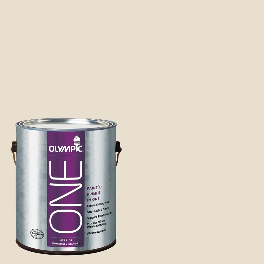Olympic ONE Brandied Pears Eggshell Latex Interior Paint and Primer In One (Actual Net Contents: 124-fl oz)