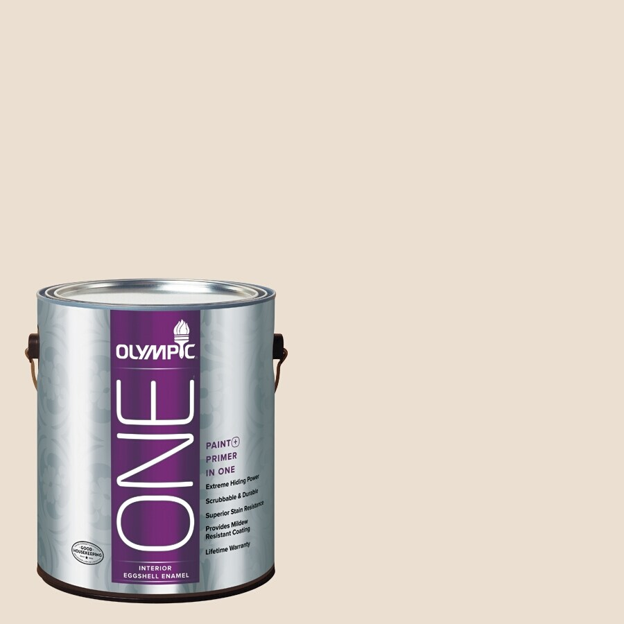 Olympic ONE Baked Brie Eggshell Latex Interior Paint and Primer In One (Actual Net Contents: 124-fl oz)