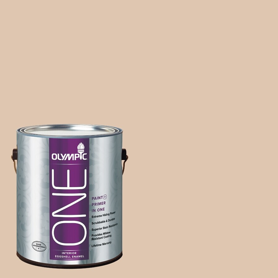 Olympic ONE Arabian Sands Eggshell Latex Interior Paint and Primer In One (Actual Net Contents: 124-fl oz)