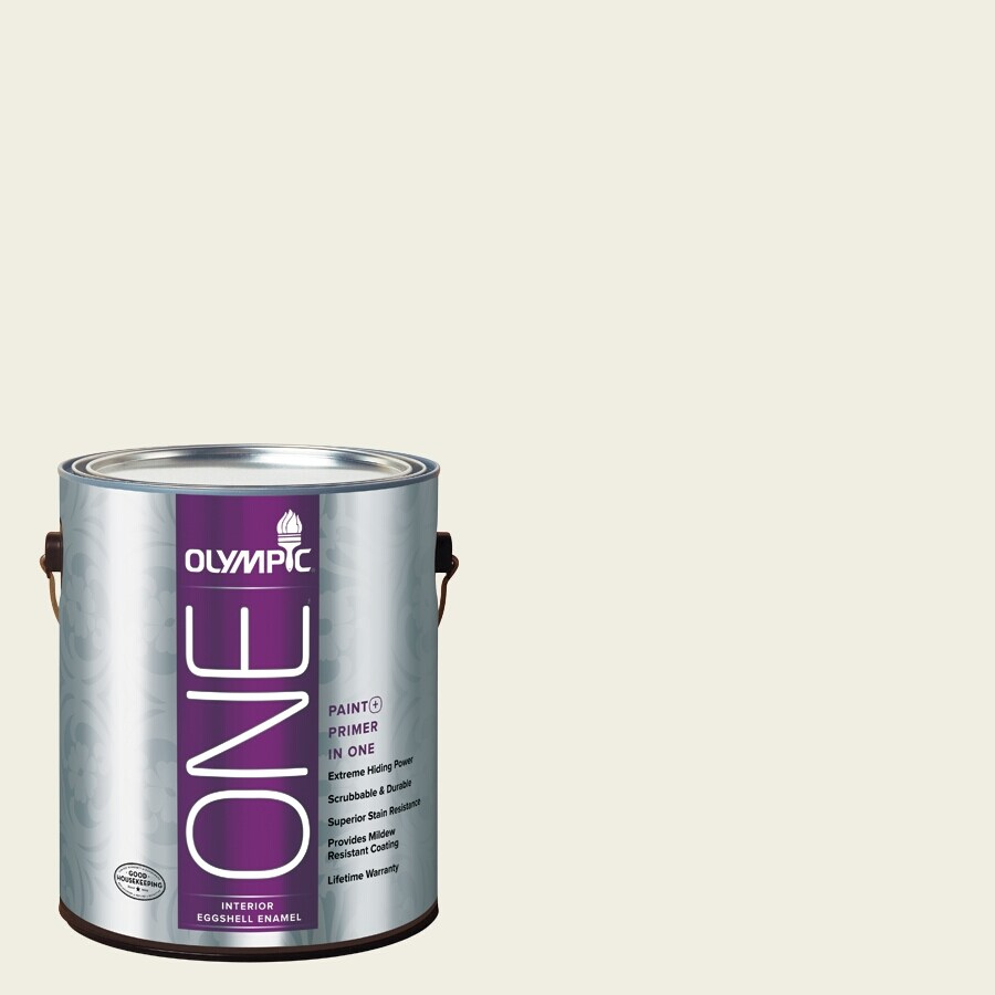 Olympic ONE Crumb Cookie Eggshell Latex Interior Paint and Primer In One (Actual Net Contents: 124-fl oz)