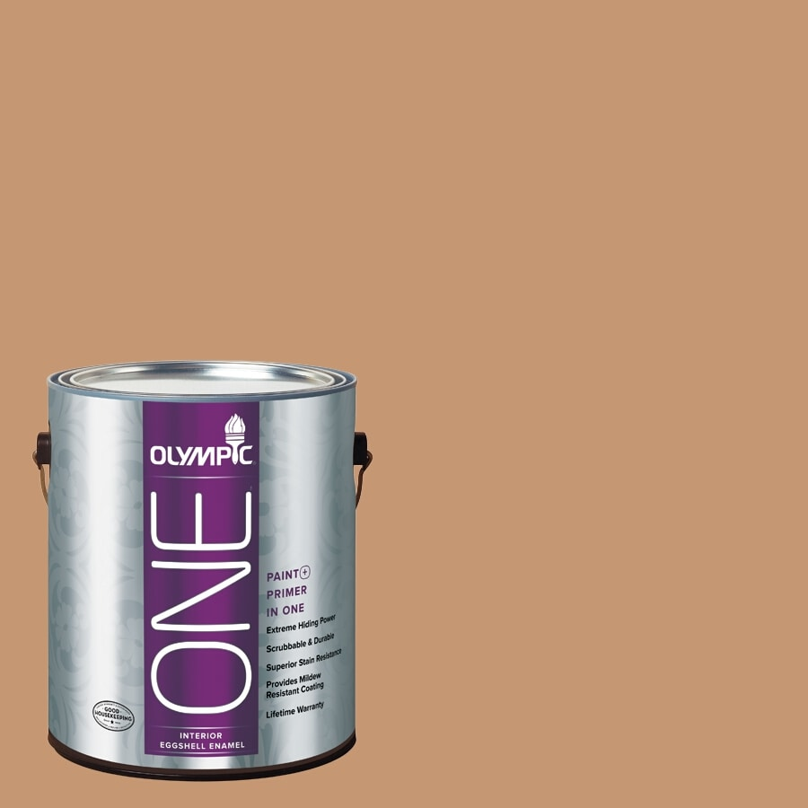 Olympic ONE Doeskin Eggshell Latex Interior Paint and Primer In One (Actual Net Contents: 116-fl oz)