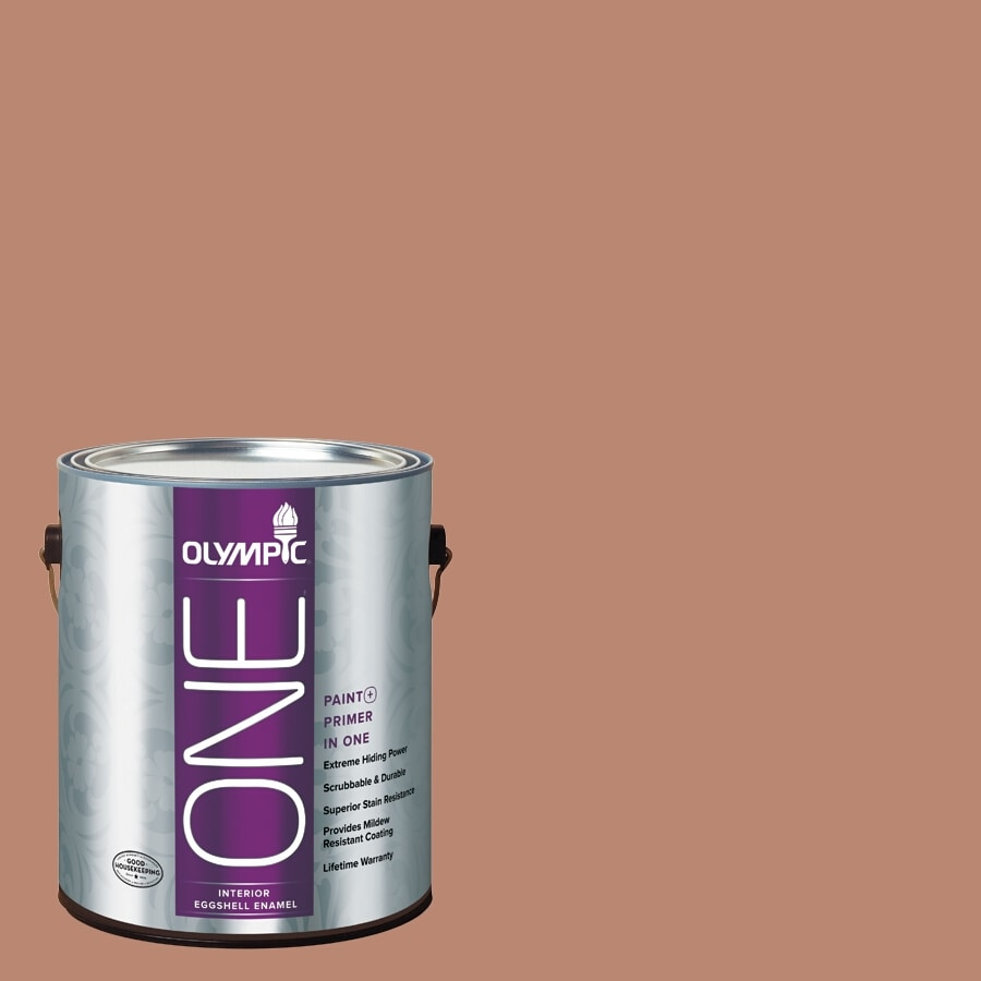 Olympic ONE Terrazzo Tan Eggshell Latex Interior Paint and Primer In One (Actual Net Contents: 116-fl oz)