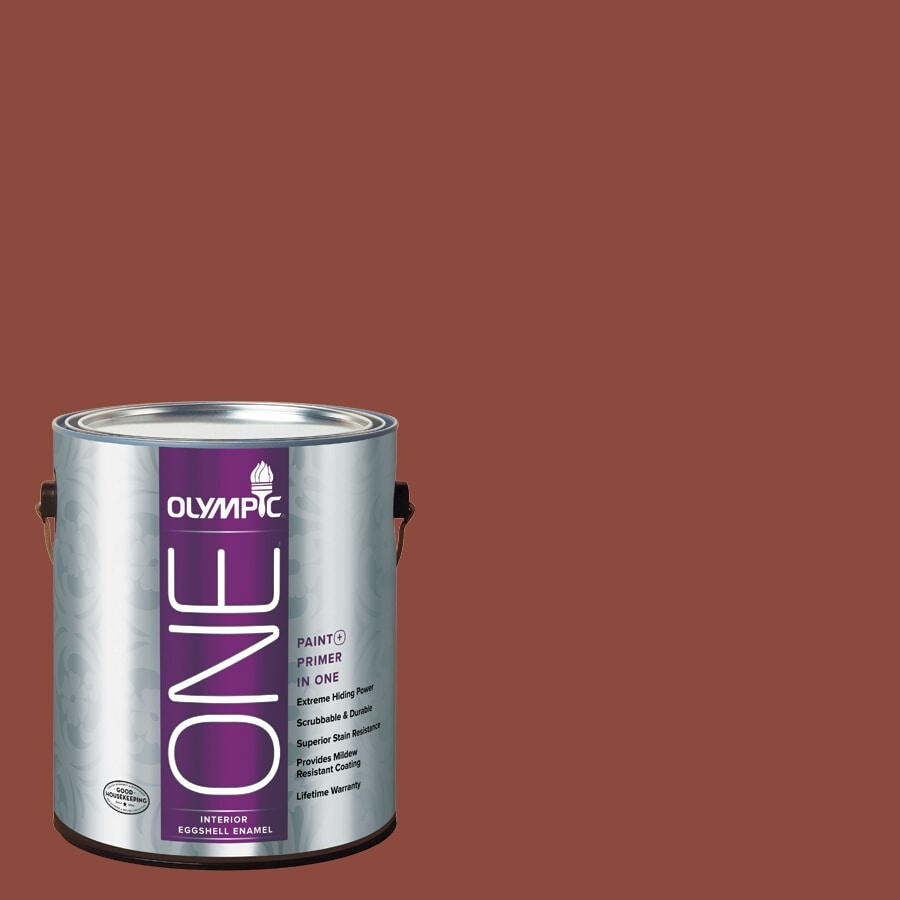 Olympic ONE Cedar Chest Eggshell Latex Interior Paint and Primer In One (Actual Net Contents: 114-fl oz)