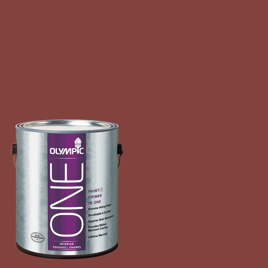 Olympic ONE Brick Dust Eggshell Latex Interior Paint and Primer In One (Actual Net Contents: 114-fl oz)
