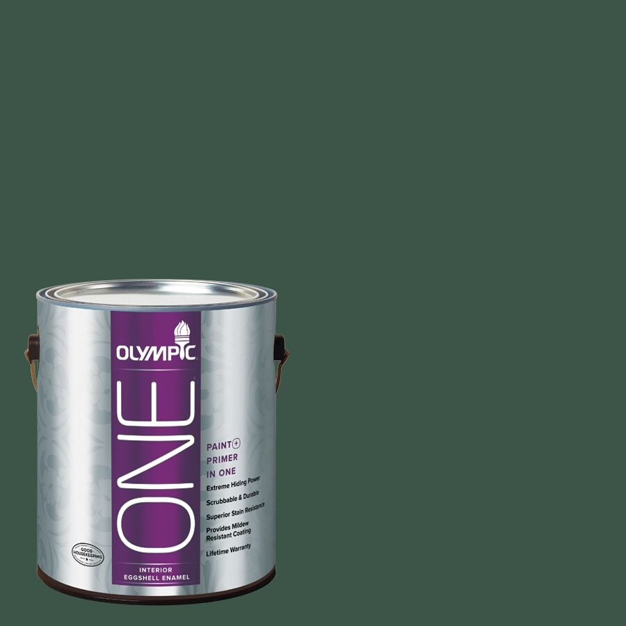 Olympic ONE Black Spruce Eggshell Latex Interior Paint and Primer In One (Actual Net Contents: 114-fl oz)