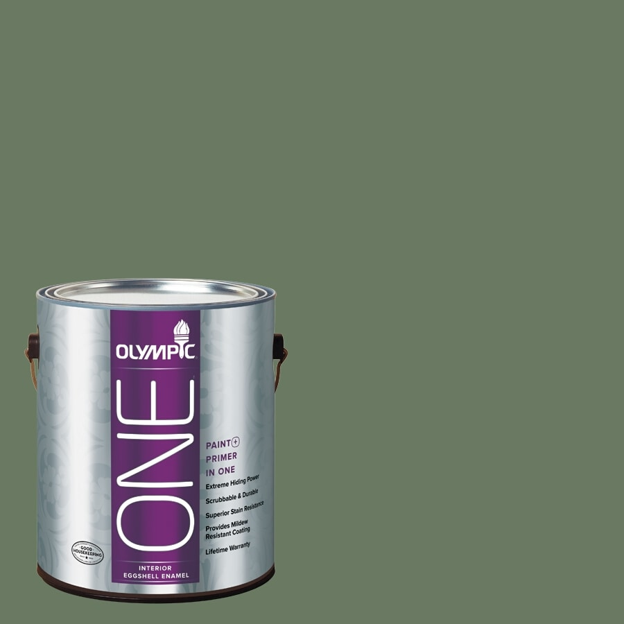 Olympic ONE Chives Eggshell Latex Interior Paint and Primer In One (Actual Net Contents: 114-fl oz)