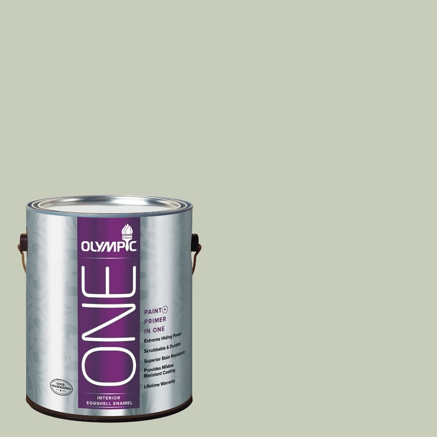 Olympic ONE Frosty Pine Eggshell Latex Interior Paint and Primer In One (Actual Net Contents: 124-fl oz)