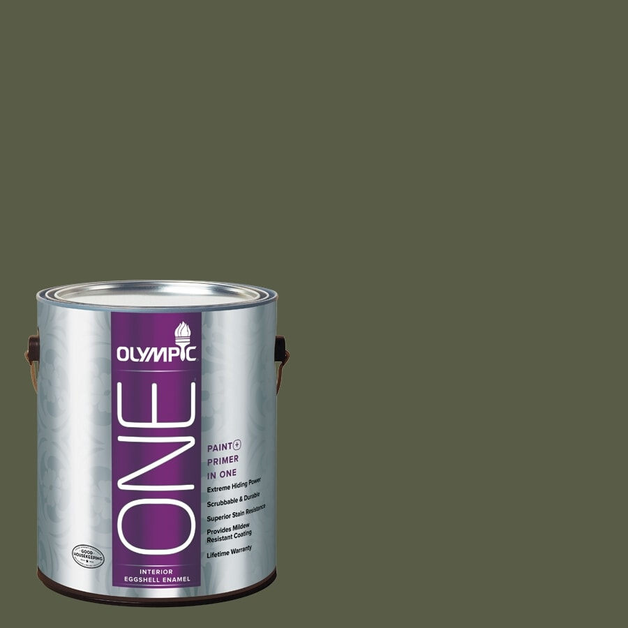 Olympic ONE Grape Leaves Eggshell Latex Interior Paint and Primer In One (Actual Net Contents: 114-fl oz)