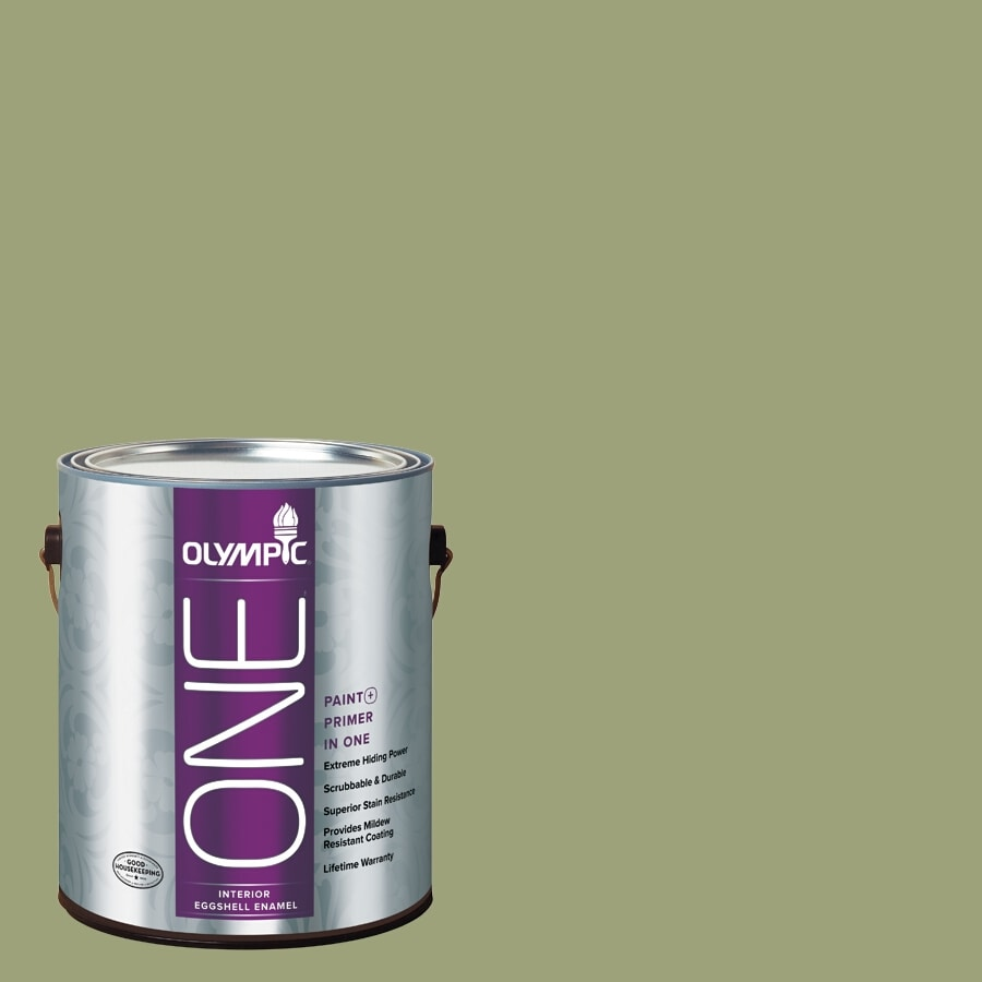 Olympic ONE Guacamole Eggshell Latex Interior Paint and Primer In One (Actual Net Contents: 116-fl oz)