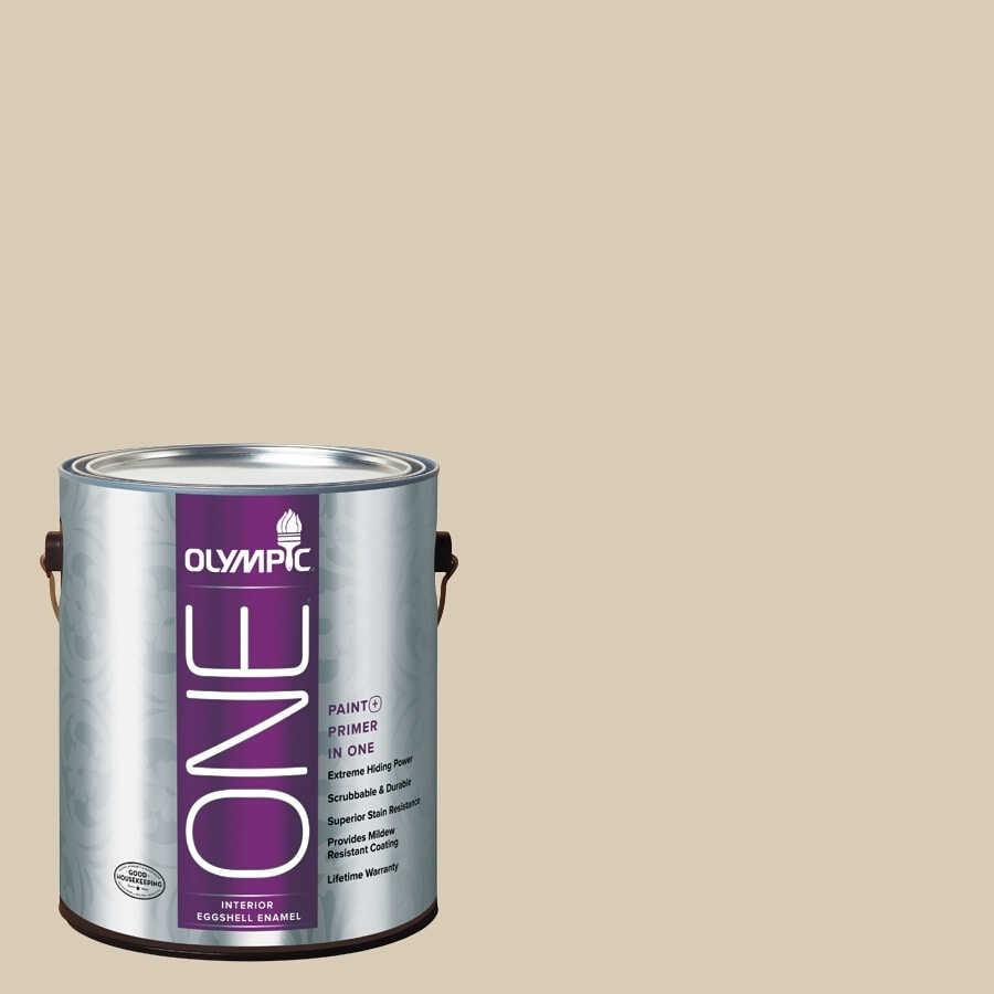 Olympic ONE Toasted Almond Eggshell Latex Interior Paint and Primer In One (Actual Net Contents: 124-fl oz)