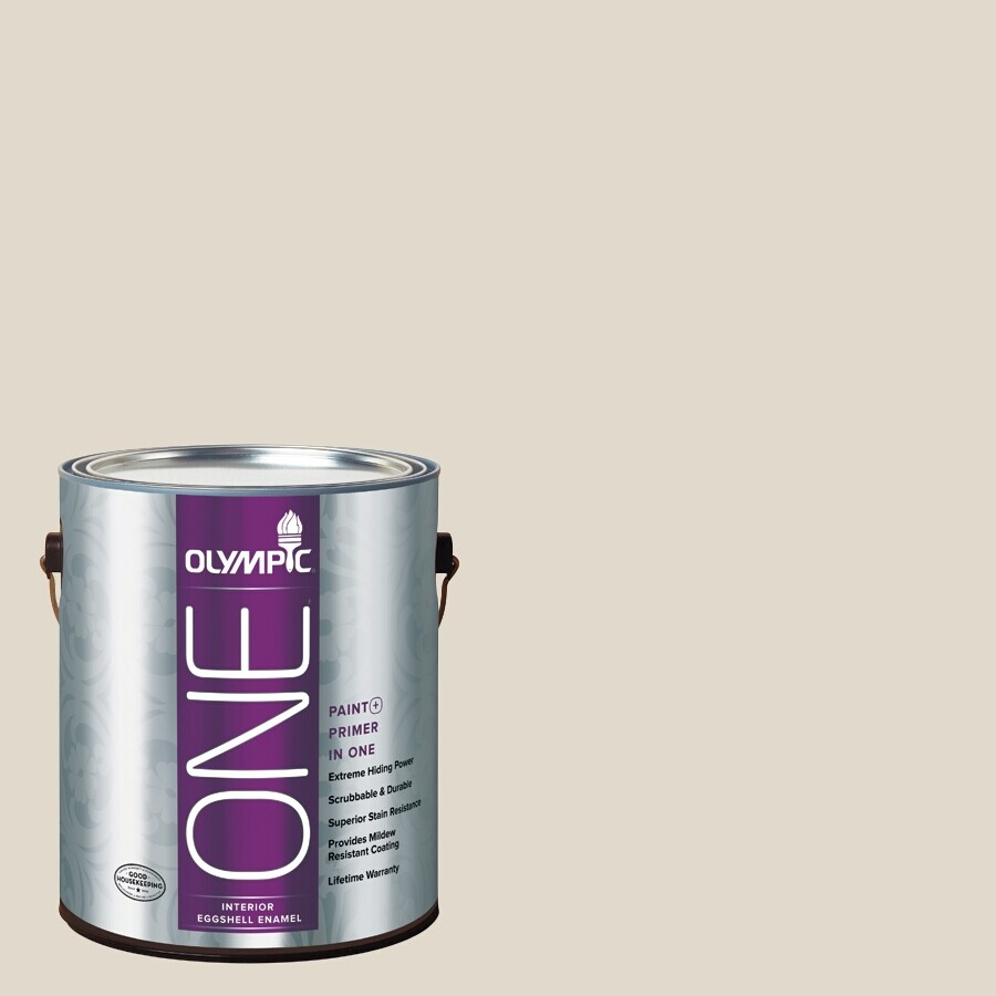 Olympic ONE Gravel Eggshell Latex Interior Paint and Primer In One (Actual Net Contents: 124-fl oz)
