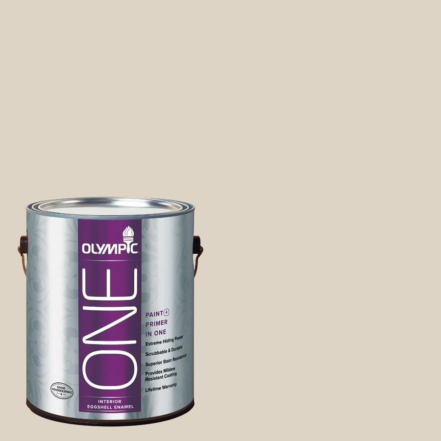 Olympic ONE Drifting Dune Eggshell Latex Interior Paint and Primer In One (Actual Net Contents: 124-fl oz)