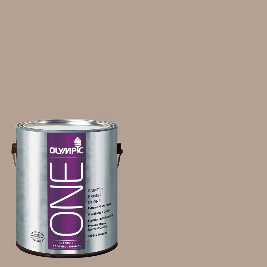 Olympic ONE BristlecONE Eggshell Latex Interior Paint and Primer In One (Actual Net Contents: 116-fl oz)
