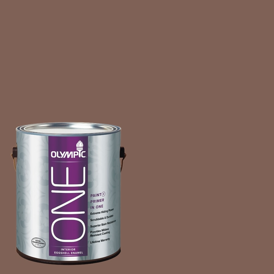 Olympic ONE Belgian Chocolate Eggshell Latex Interior Paint and Primer In One (Actual Net Contents: 114-fl oz)