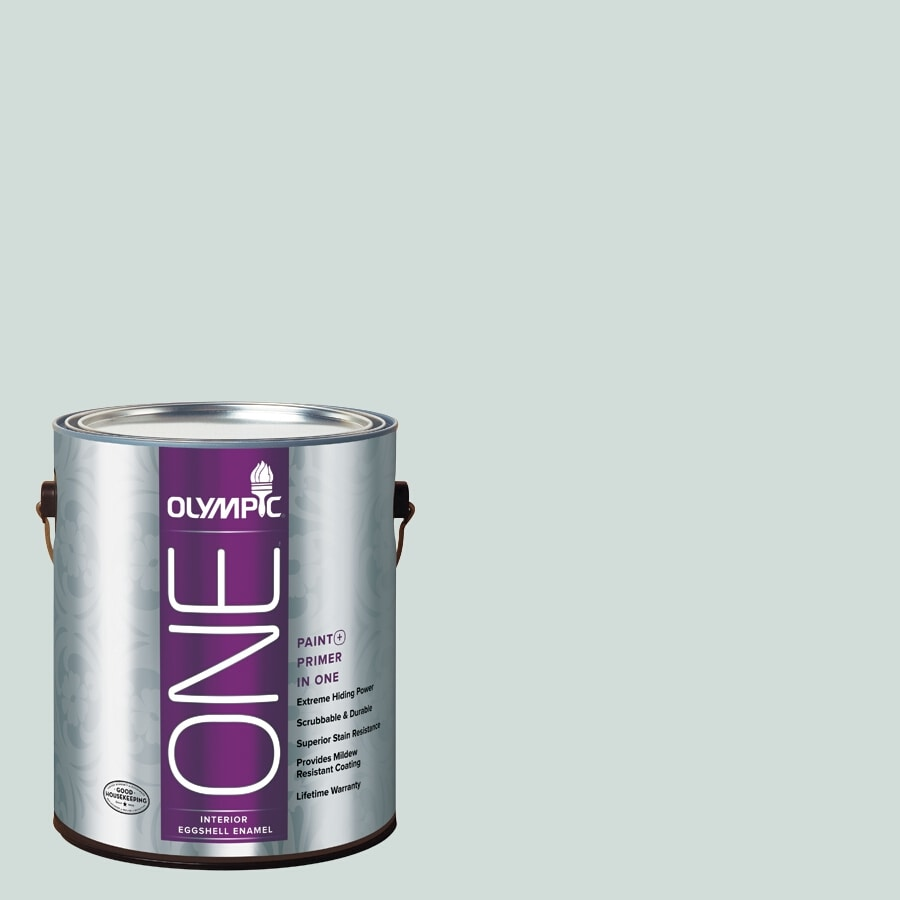 Olympic ONE Morning Fog Eggshell Latex Interior Paint and Primer In One (Actual Net Contents: 124-fl oz)