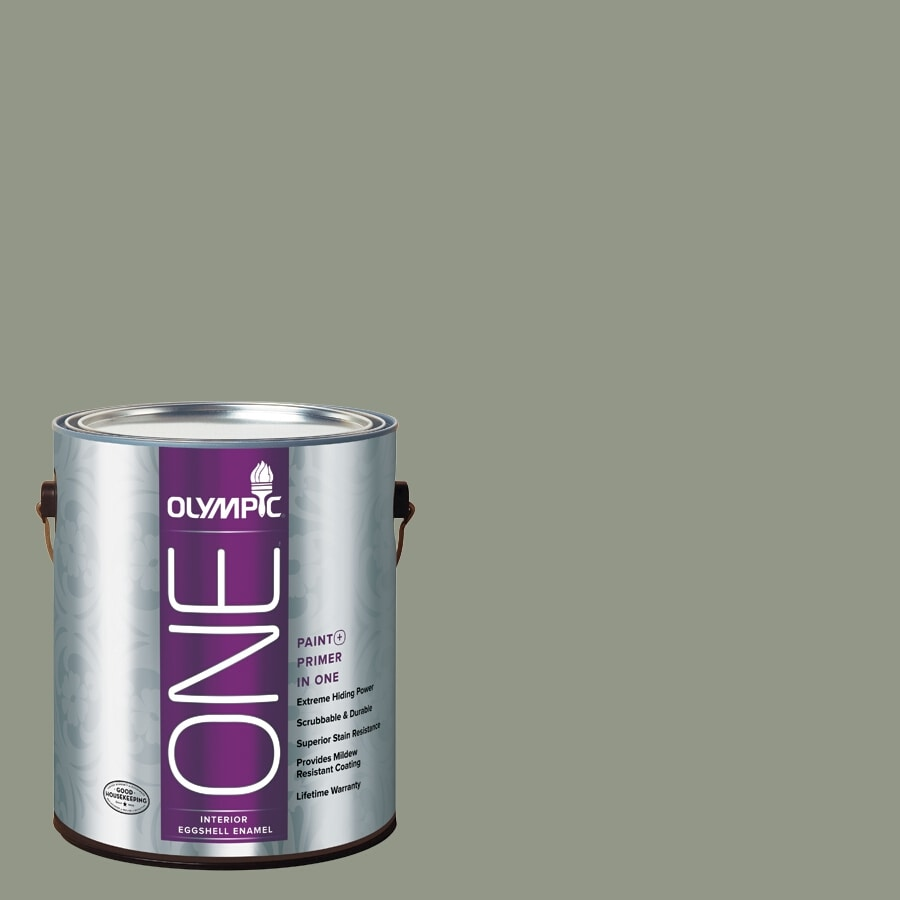 Olympic ONE Green Tea Leaf Eggshell Latex Interior Paint and Primer In One (Actual Net Contents: 116-fl oz)
