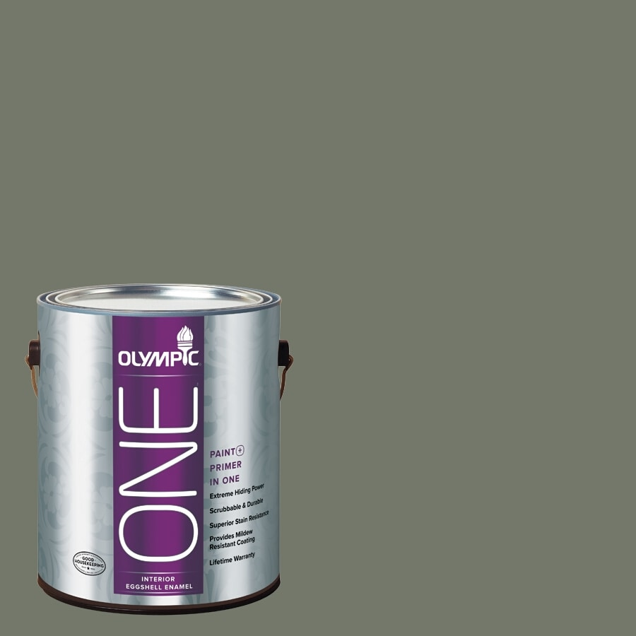 Olympic ONE Thyme Green Eggshell Latex Interior Paint and Primer In One (Actual Net Contents: 114-fl oz)