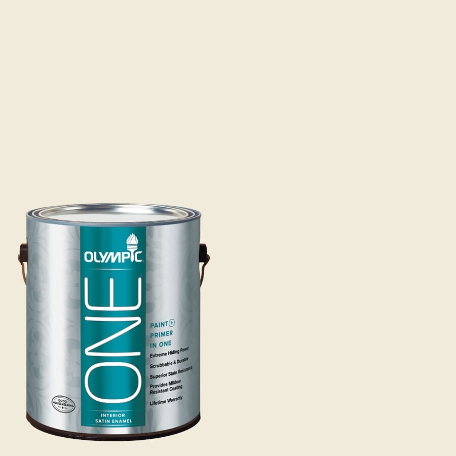 Olympic ONE Queen Anne's Lace Satin Latex Interior Paint and Primer In One (Actual Net Contents: 124-fl oz)