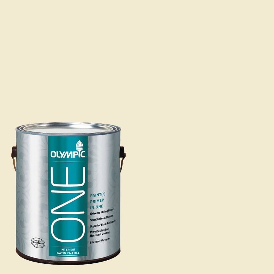 Olympic ONE Moonshine Satin Latex Interior Paint and Primer In One (Actual Net Contents: 124-fl oz)