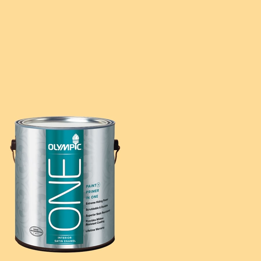 Olympic ONE Golden Slumber Satin Latex Interior Paint and Primer In One (Actual Net Contents: 114-fl oz)