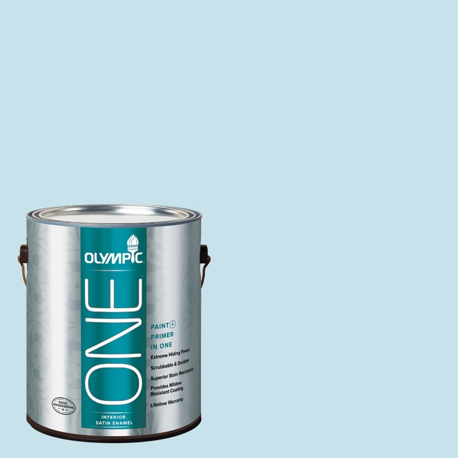 Olympic ONE Fond Farewell Satin Latex Interior Paint and Primer In One (Actual Net Contents: 124-fl oz)