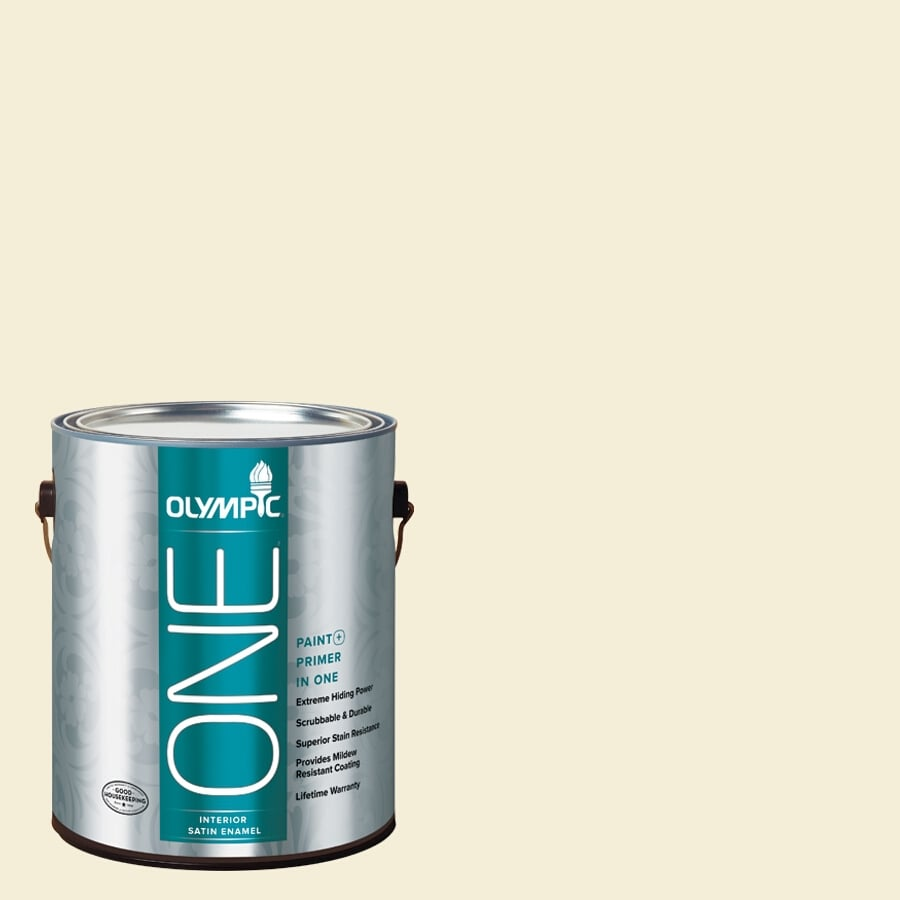 Olympic ONE Lotus Flower Satin Latex Interior Paint and Primer In One (Actual Net Contents: 124-fl oz)