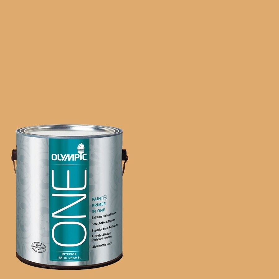 Olympic ONE Lion's Maine Satin Latex Interior Paint and Primer in One (Actual Net Contents: 116-fl oz)