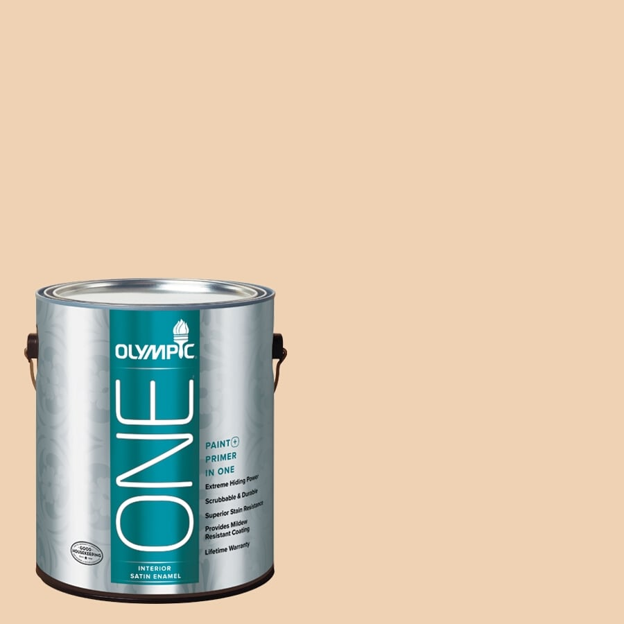 Olympic ONE Apple Crunch Satin Latex Interior Paint and Primer In One (Actual Net Contents: 124-fl oz)