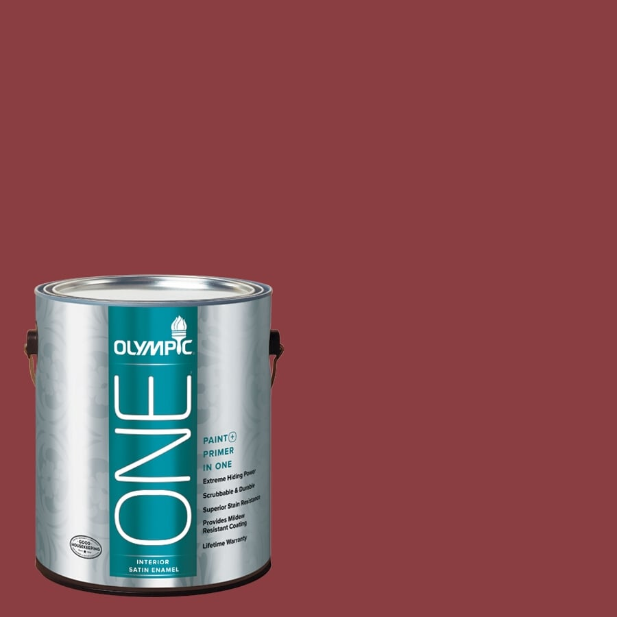 Olympic ONE Apple-A-Day Satin Latex Interior Paint and Primer In One (Actual Net Contents: 114-fl oz)