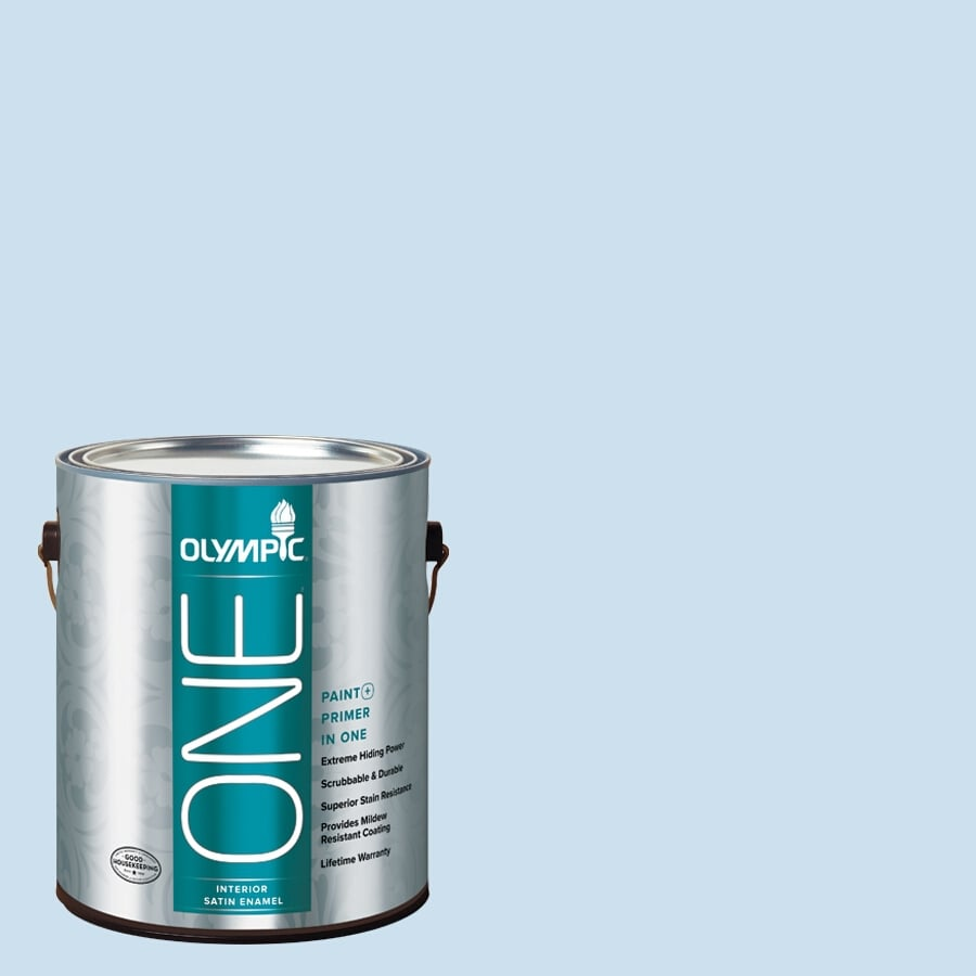 Olympic ONE Cloud Nine Satin Latex Interior Paint and Primer In One (Actual Net Contents: 124-fl oz)
