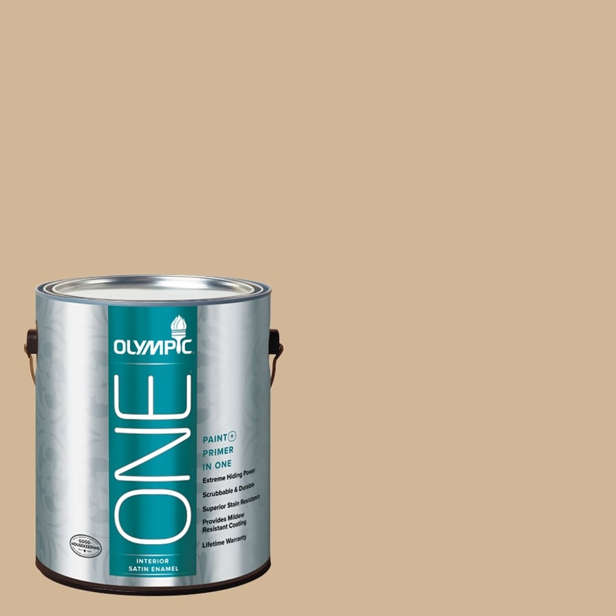 Olympic ONE Pony Tail Satin Latex Interior Paint and Primer In One (Actual Net Contents: 124-fl oz)