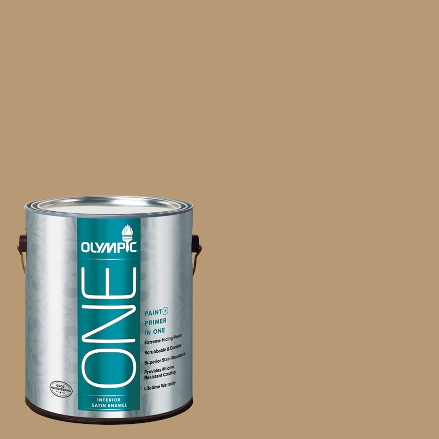 Olympic ONE Earthy Ocher Satin Latex Interior Paint and Primer In One (Actual Net Contents: 116-fl oz)