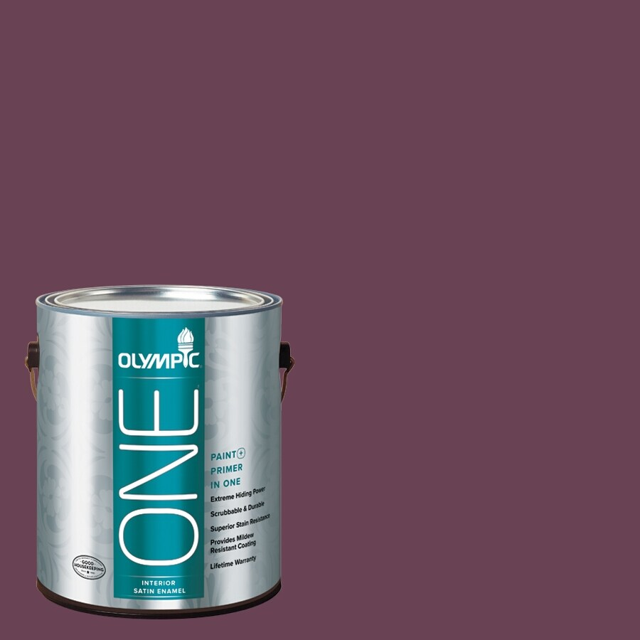 Olympic ONE Chilled Wine Satin Latex Interior Paint and Primer In One (Actual Net Contents: 114-fl oz)