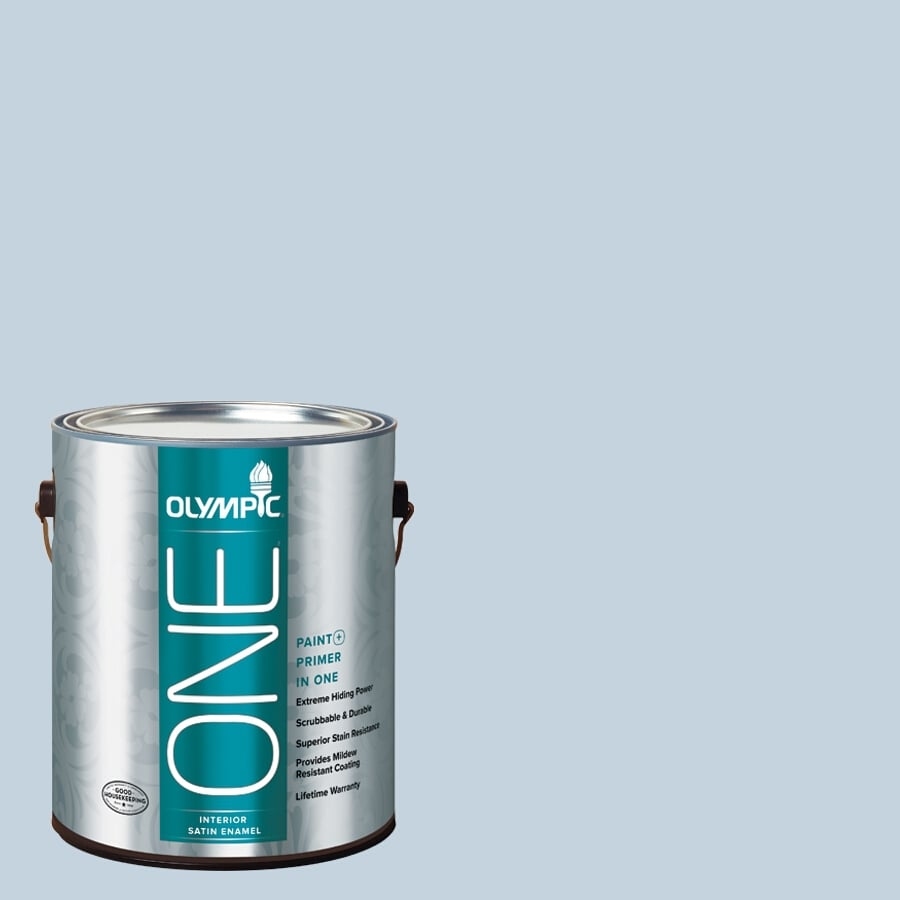 Olympic ONE Stratosphere Satin Latex Interior Paint and Primer In One (Actual Net Contents: 124-fl oz)