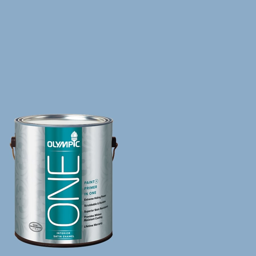 Olympic ONE Angle Eyes Satin Latex Interior Paint and Primer In One (Actual Net Contents: 124-fl oz)
