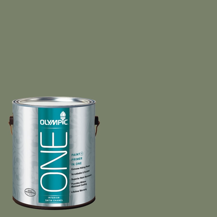 Olympic ONE Hidden Meadow Satin Latex Interior Paint and Primer In One (Actual Net Contents: 114-fl oz)