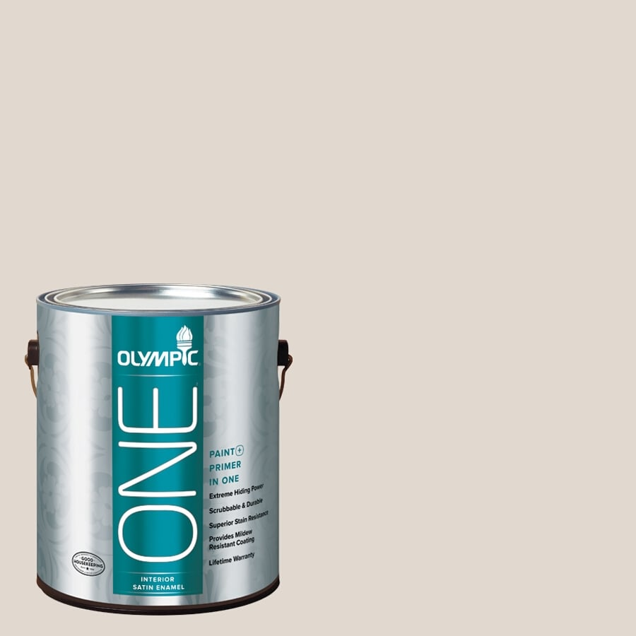 Olympic ONE Tattered Sail Satin Latex Interior Paint and Primer In One (Actual Net Contents: 124-fl oz)
