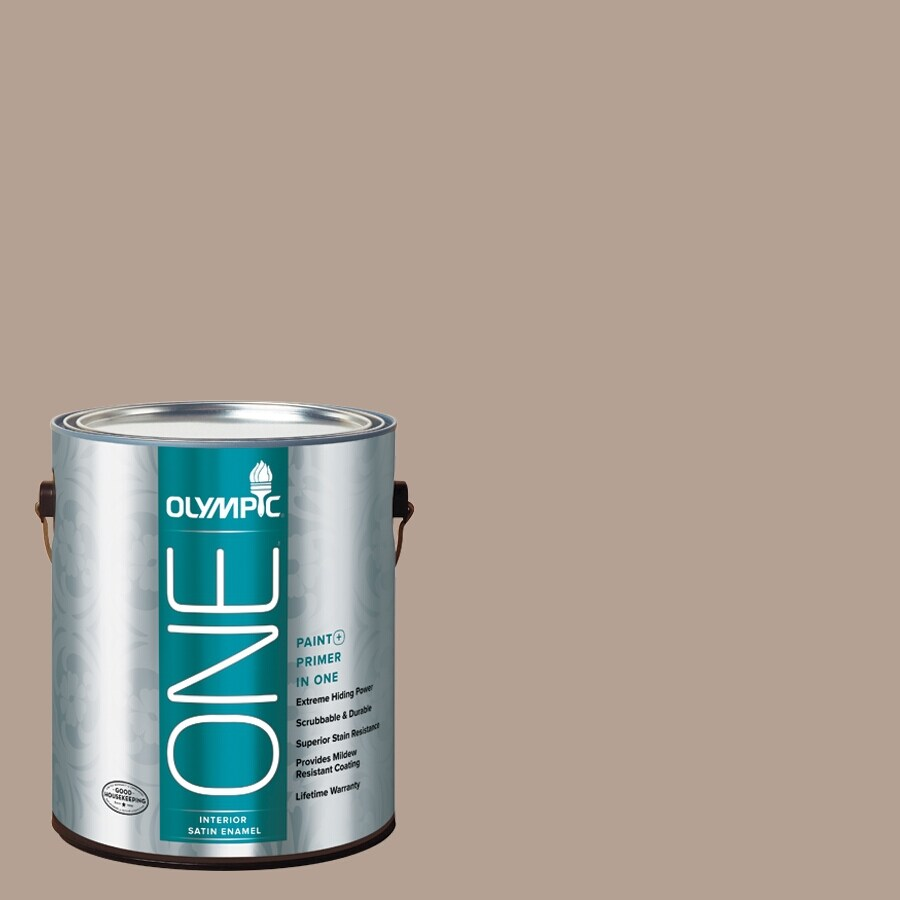 Olympic ONE BristlecONE Satin Latex Interior Paint and Primer In One (Actual Net Contents: 116-fl oz)